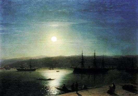 Описание картины Ивана Айвазовского «Босфор в лунную ночь»