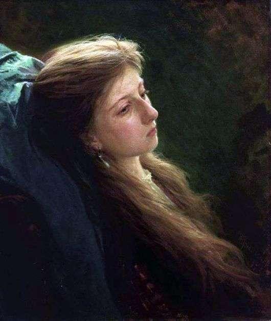 Описание картины Ивана Крамского «Девушка с распущенной косой»