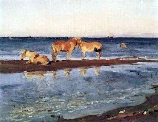 Описание картины Валентина Серова «Лошади на взморье»