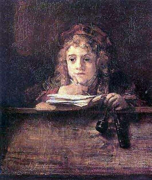 Описание картины Рембрандта «Титус, сын Рембрандта»