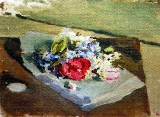 Описание картины Виктора Борисова Мусатова «Цветы»