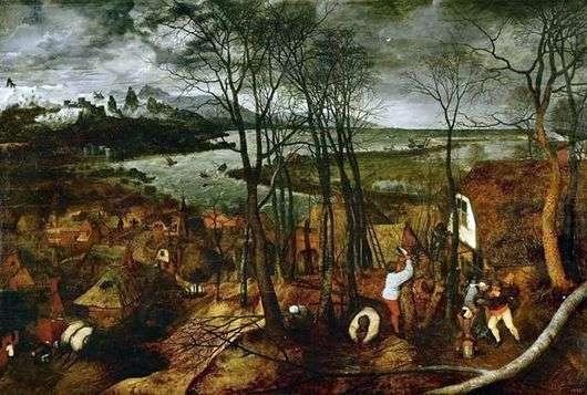 Описание картины Питера Брейгеля «Сумрачный день»