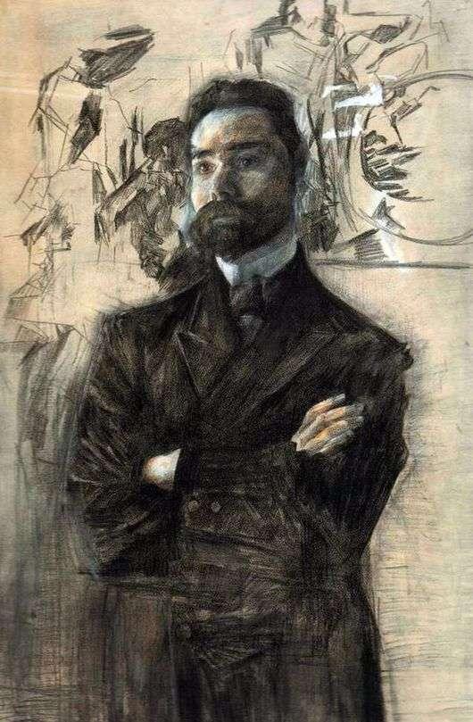 Описание картины Михаила Врубеля «Портрет Валерия Брюсова»