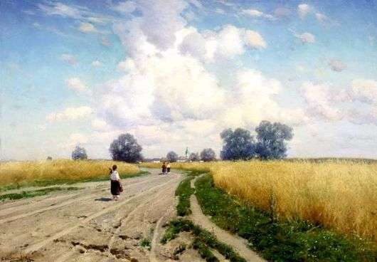 Описание картины Константина Крыжицкого «Дорога»