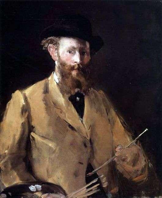 Описание картины Эдуарда Мане «Автопортрет с кистями»