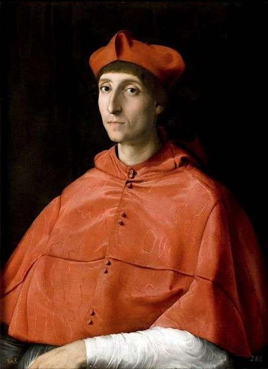 Описание картины Рафаэля Санти «Портрет кардинала»