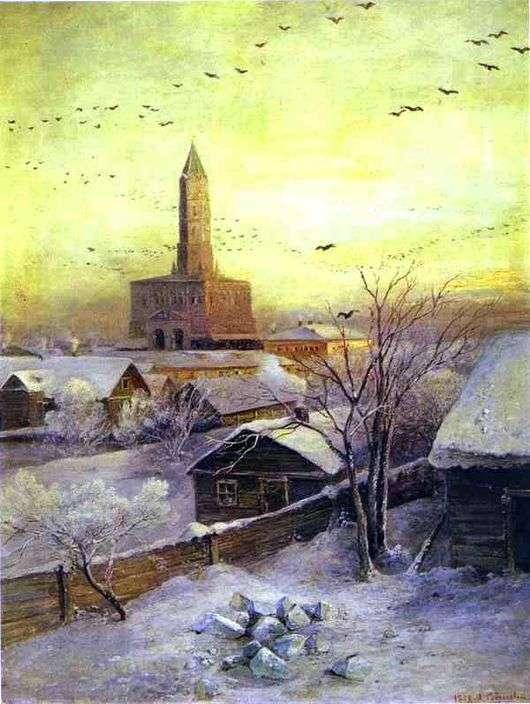Описание картины Алексея Саврасова «Сухарева башня»