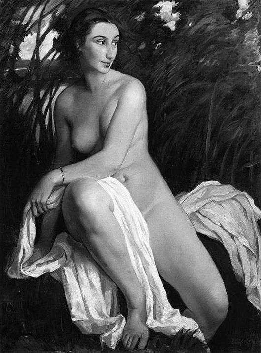 Описание картины Зинаиды Серебряковой «Купальщица»