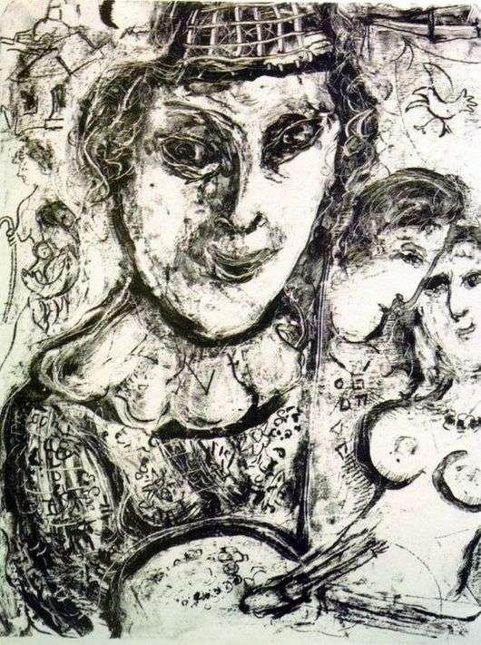 Описание картины Марка Шагала «Автопортрет»