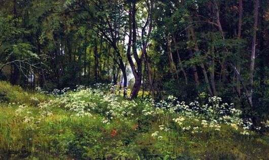 Описание картины Ивана Шишкина «Цветы на опушке леса»