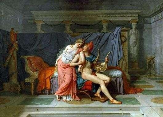 Описание картины Жака Луи Давида «Любовь Париса и Елены»