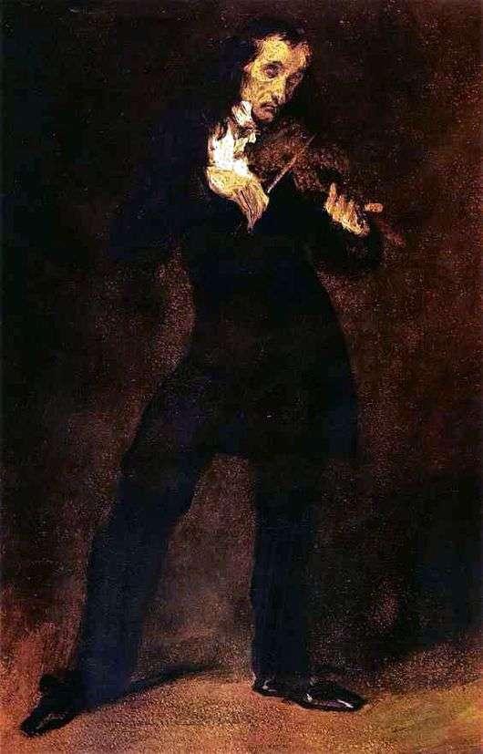 Описание картины Эжена Делакруа «Портрет Паганини»