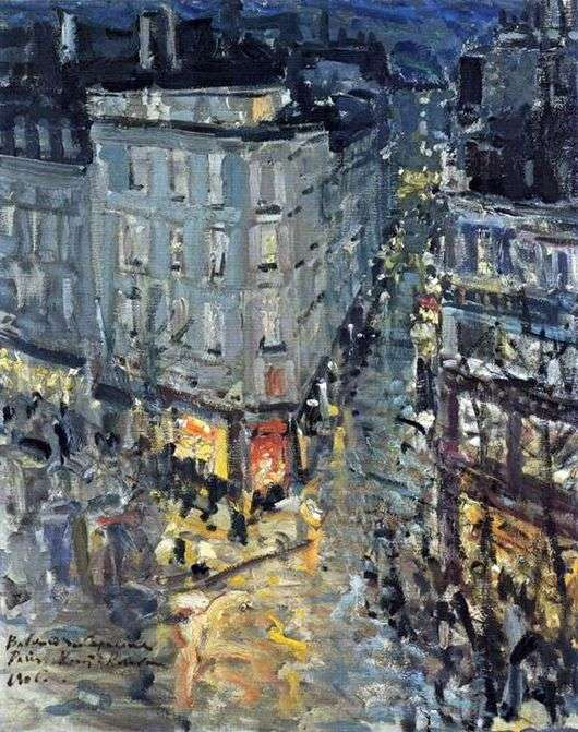 Описание картины Константина Коровина «Париж. Бульвар Капуцинок»