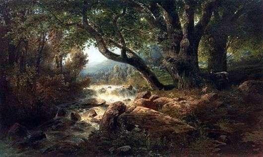 Описание картины Алексея Саврасова «Водопад»