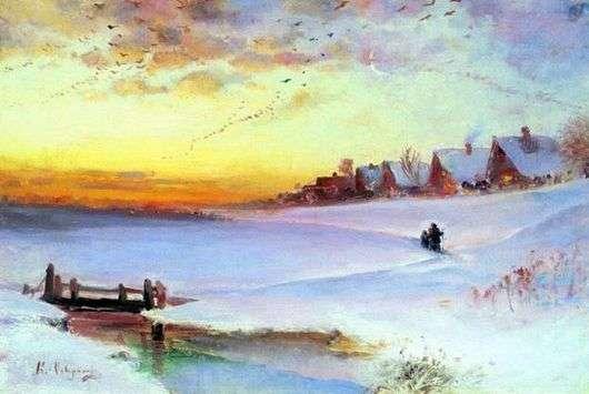 Описание картины Алексея Саврасова «Зимний пейзаж»