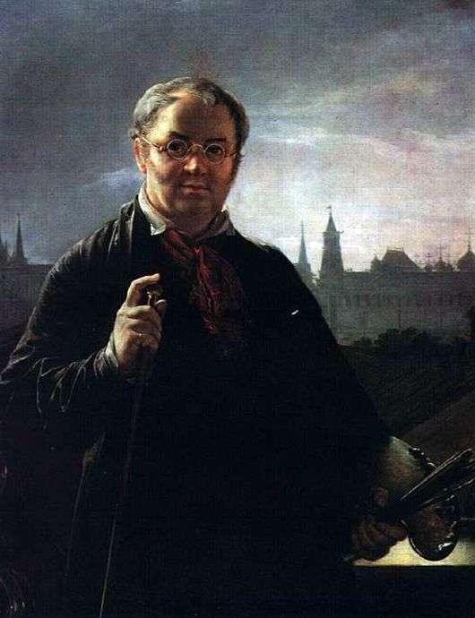 Описание картины Василия Тропинина «Автопортрет на фоне окна с видом на Кремль»