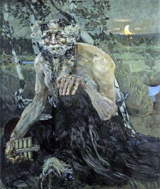 Описание картины Михаила Врубель «Пан»