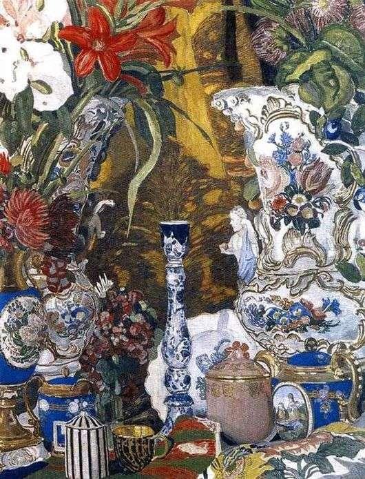 Описание картины Александра Головина «Цветы»