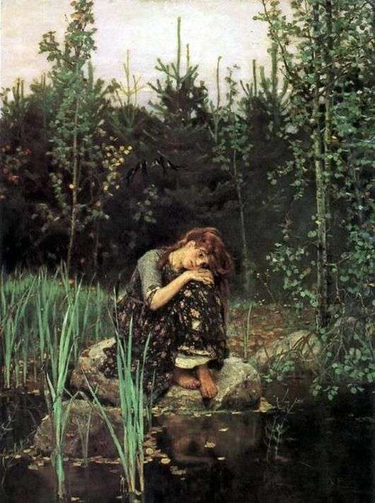 Описание картины Виктора Васнецова «Алёнушка»