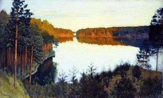 Описание картины Исаака Левитана «Лесное озеро»