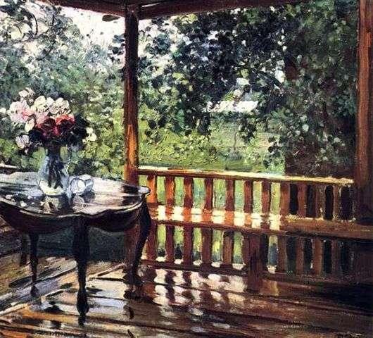 Описание картины Александра Герасимова «После дождя»