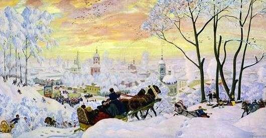 Описание картины Бориса Кустодиева «Масленица»