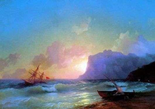 Описание картины Ивана Айвазовского «Море. Коктебельская бухта»