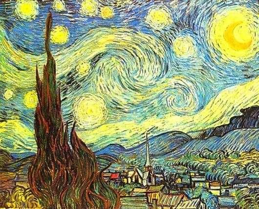 Описание картины Винсента Ван Гога «Звездная Ночь»