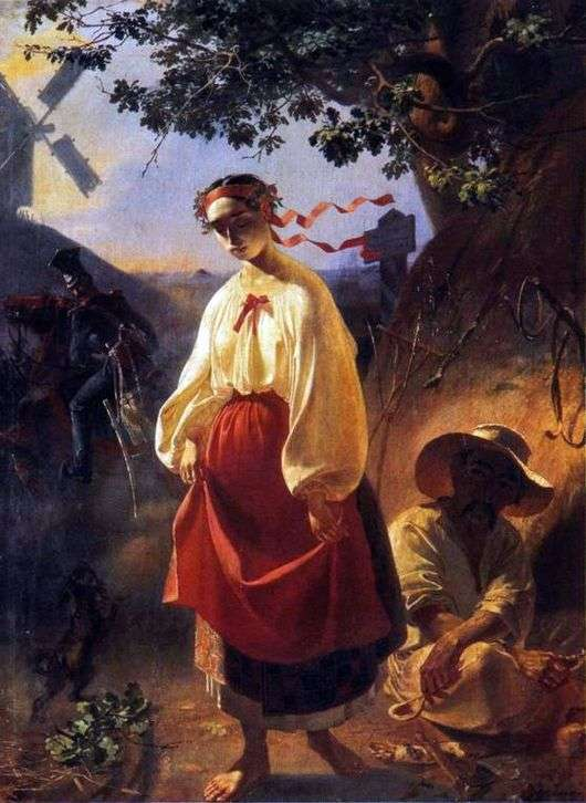 Описание картины Тараса Шевченка «Катерина»