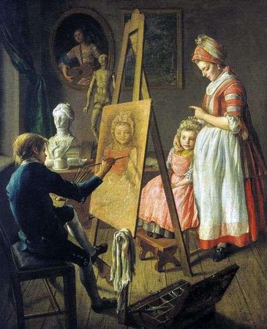 Описание картины Ивана Фирсова «Юный Живописец»