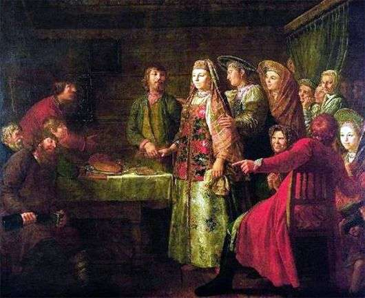 Описание картины Михаила Шибанова «Празднество свадебного договора»