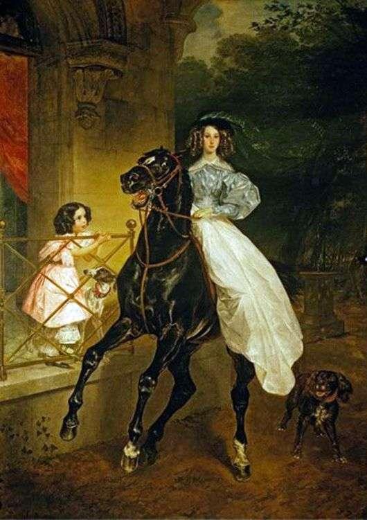 Описание картины Карла Брюллова «Всадница»