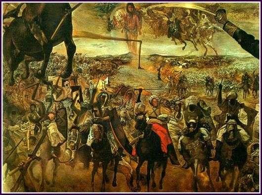 Описание картины Сальвадора Дали «Битва при Тетуане»