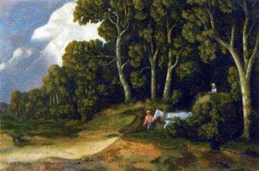 Описание картины Николая Крымова «Из лесу»