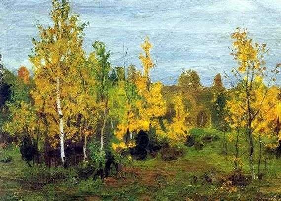 Описание картины Аркадия Рылова «Осенний пейзаж»