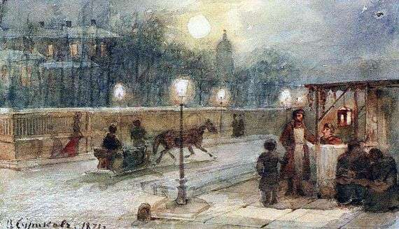 Описание картины Василия Сурикова «Вечер в Петербурге»