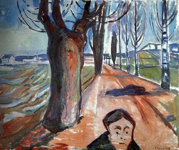 Описание картины Эдварда Мунка «Убийца в переулке»