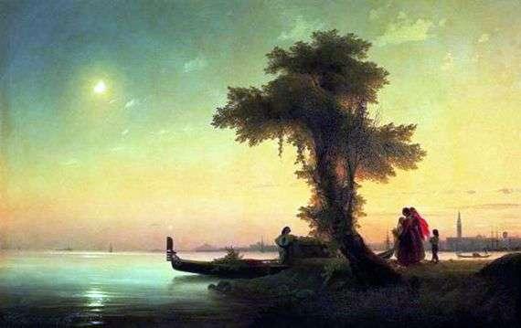 Описание картины Ивана Айвазовского «Вид на Венецианскую лагуну»