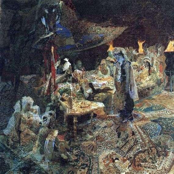 Описание картины Михаила Врубеля «Восточная сказка»