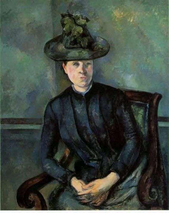 Описание картины Поля Сезанна «Мадам Сезанн»