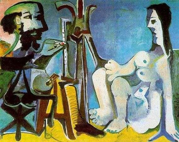 Описание картины Пабло Пикассо «Художник и модель»