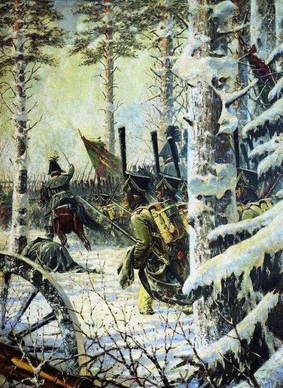 Описание картины Василия Верещагина «В штыки! Ура, ура!»