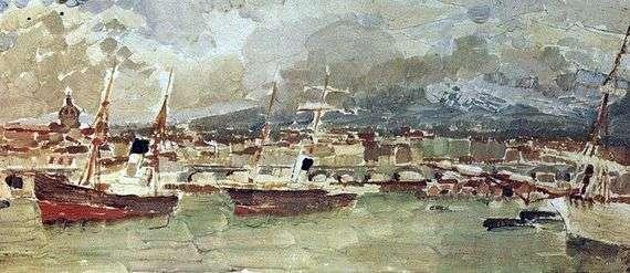Описание картины Михаила Врубеля «Катанья. Сицилия»