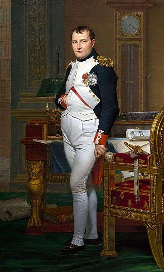 Описание картины Жака Луи Давида «Портрет Наполеона в рабочем кабинете»