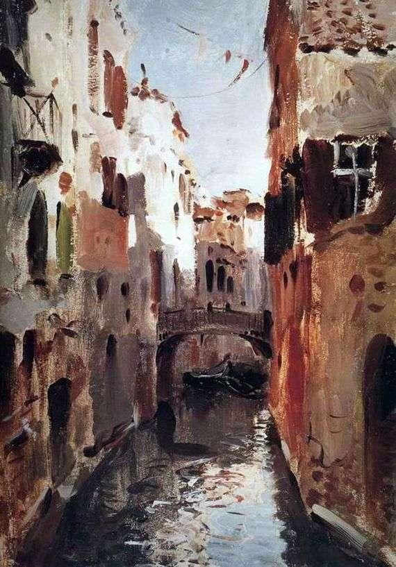 Описание картины Исаака Левитана «Канал в Венеции»