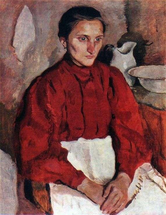 Описание картины Зинаиды Серебряковой «Портрет няни»