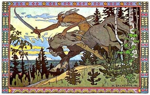 Иллюстрация к сказке «Марья Моревна» работы Ивана Билибина