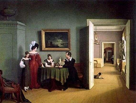 Описание картины Федора Толстого «Семейный портрет»