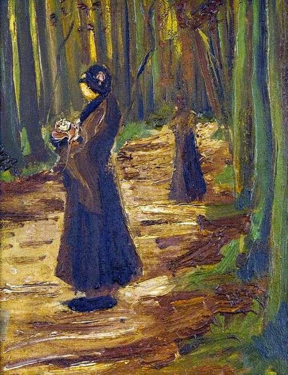 Описание картины Винсента Ван Гога «Две женщины в лесу»