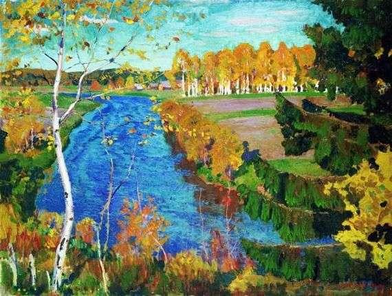 Описание картины Аркадия Рылова «Осень на реке Тосне»